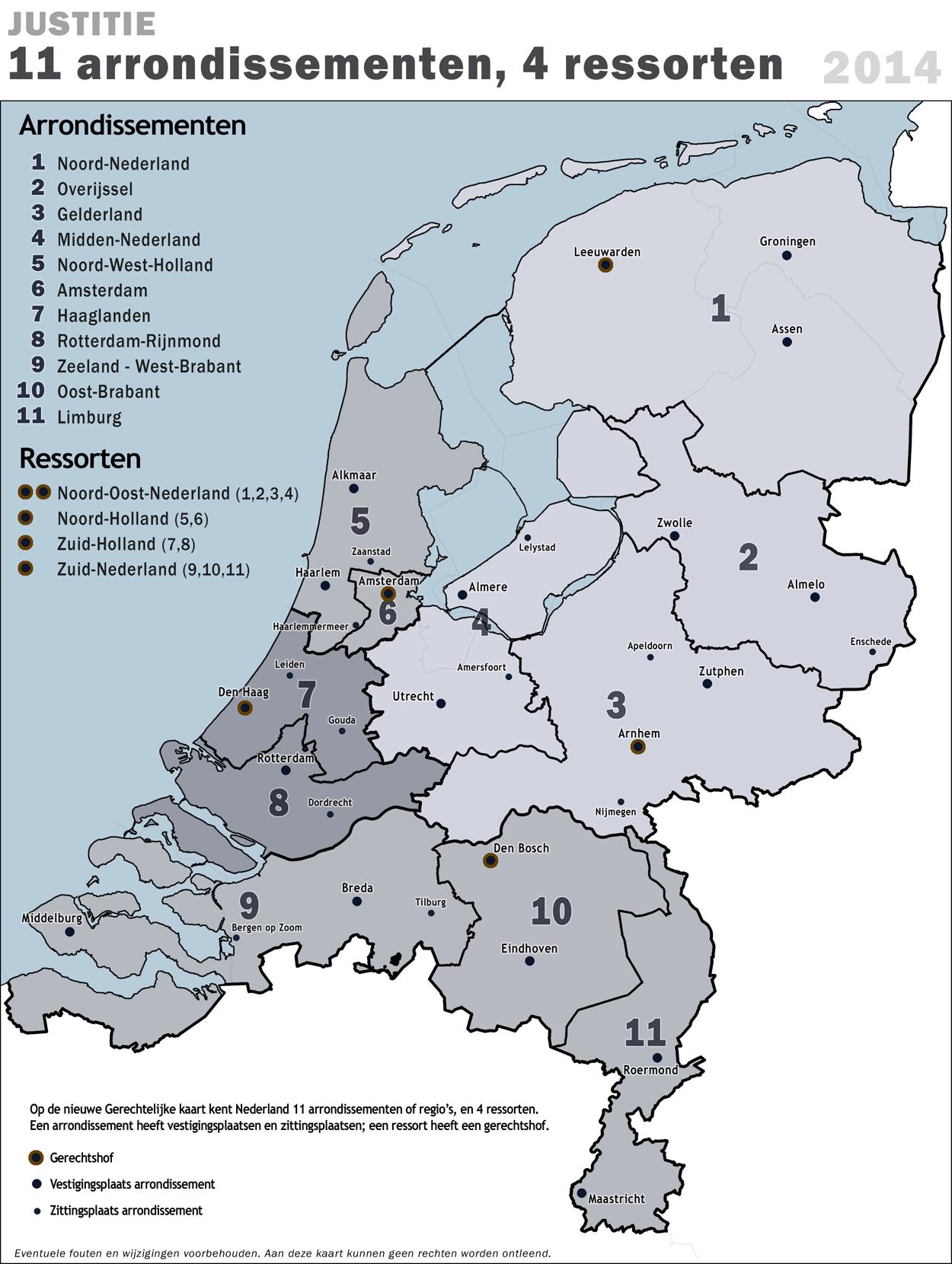 Rechtbanken Nederland - Weening Strafrechtadvocaten