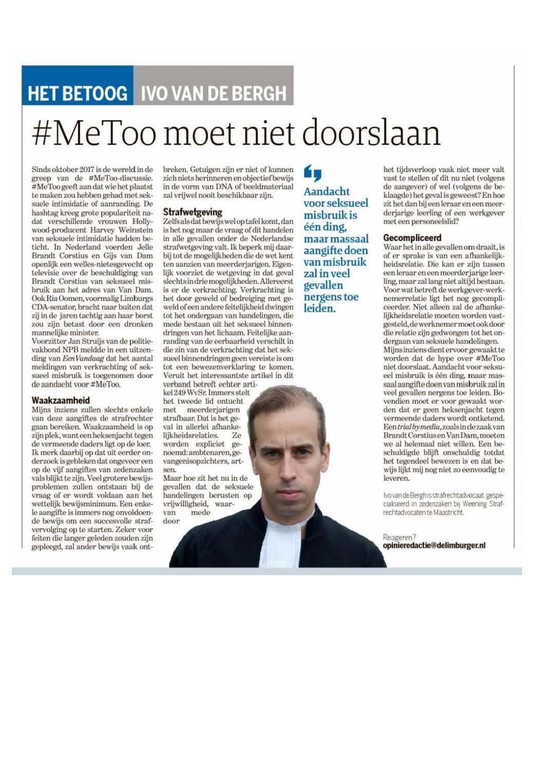 Artikel Ivo metoo