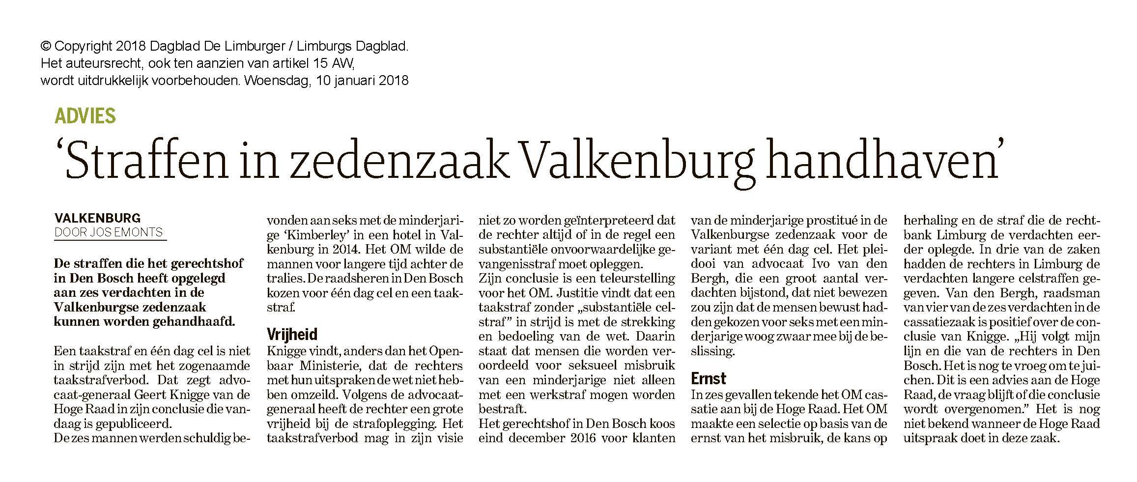 Straffen in zedenzaak Valkenburg handhaven Limburgs Dagblad