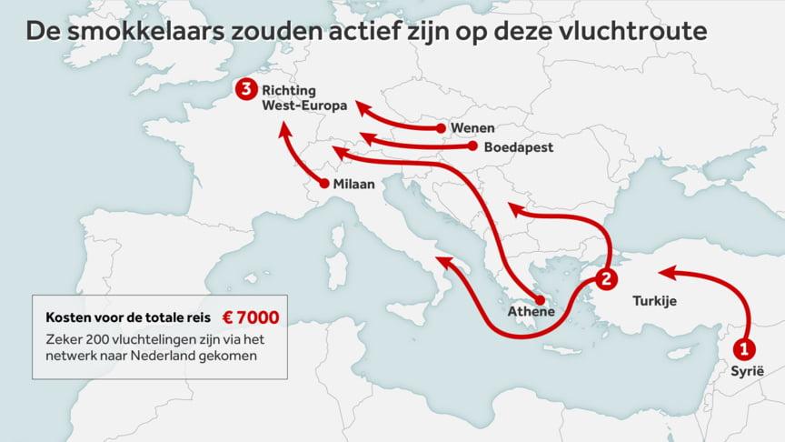 Syriërs in Eindhoven vast voor grootschalige mensensmokkel NOS.nl 3